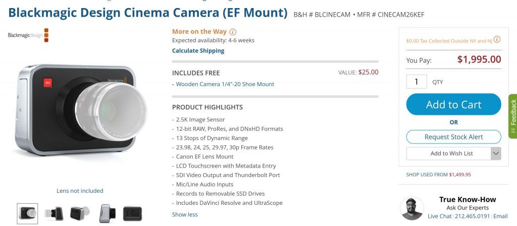 bm cinema camera