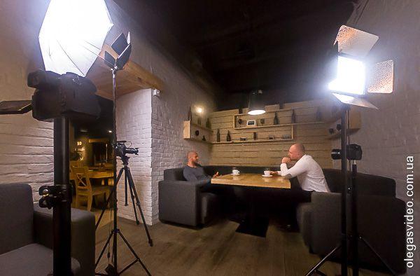 backstage съёмка интервью