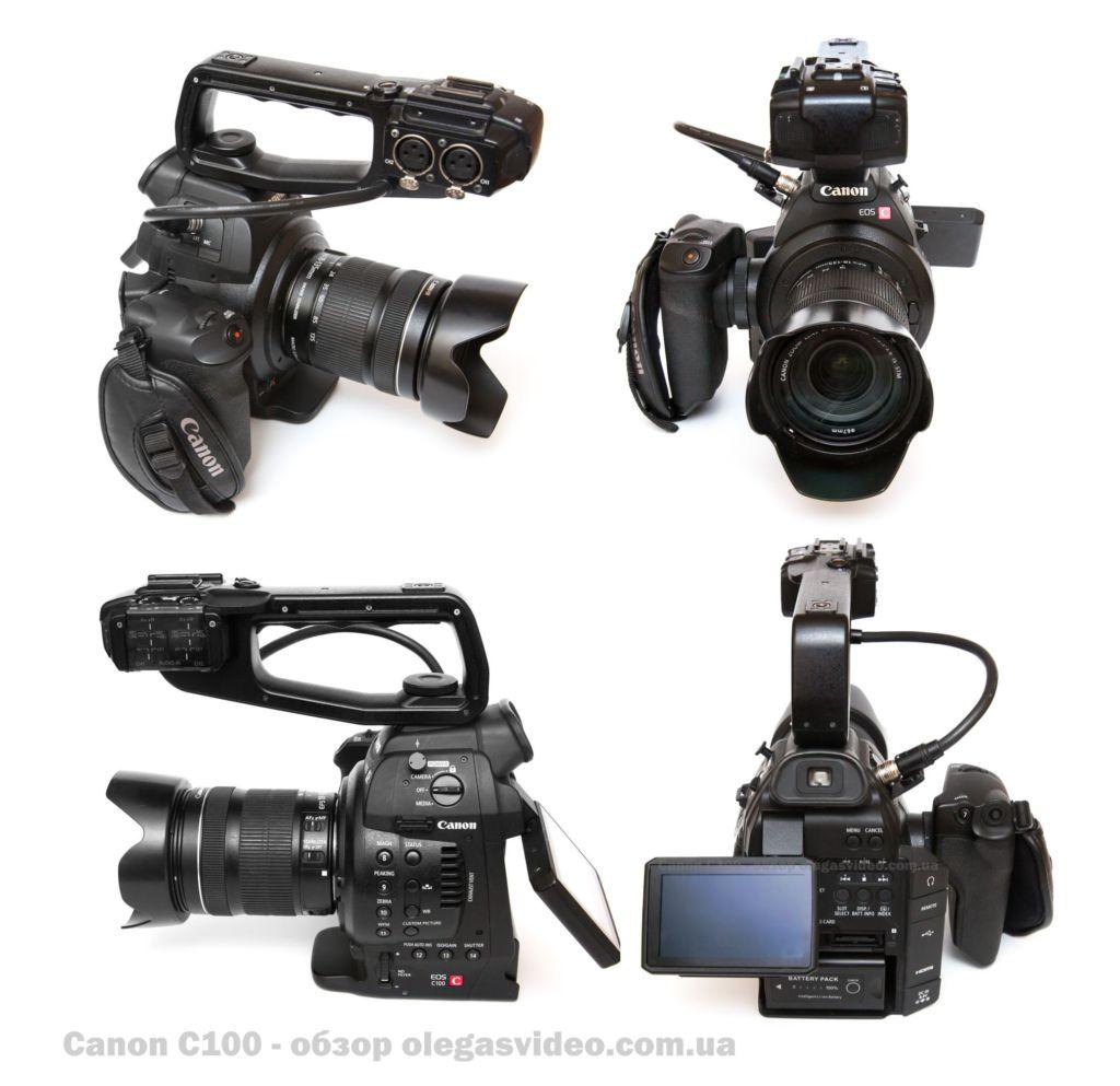 обзор кинокамеры canon c100