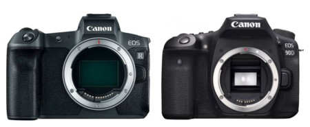 canon 90d vs r